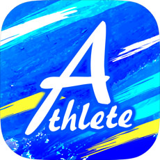 アスリートのアプリアイコン風のロゴ