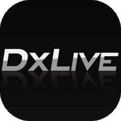 DXLIVEのアプリアイコン風ロゴ